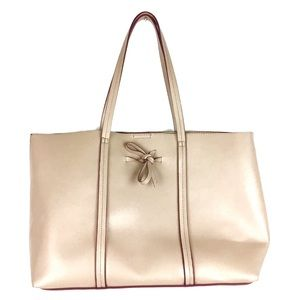 NWOT Sole Society PU Leather Tote Bag Cream